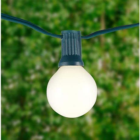 Frosted 24-Bulb Green Wire 25' Holiday String Light