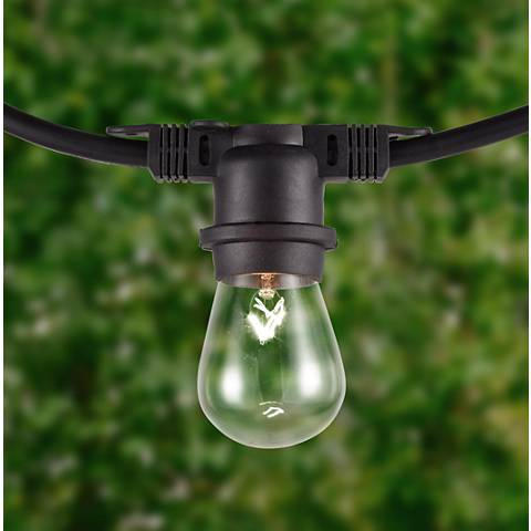 City Metro Black 48' All-Weather 24-Bulb String Light