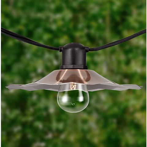 Aspen 24 Clear-Bulb Copper Shade 48' String Light