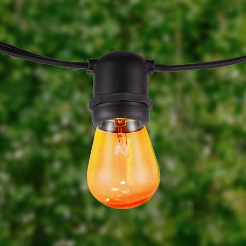 Aspen Amber 24-Light 48-Foot Party Light String