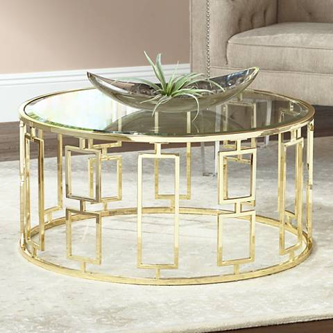 Belesi Gold Round Coffee Table