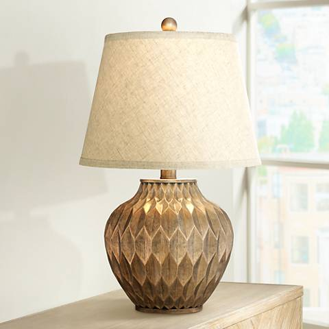 "Buckhead Bronze 22"" High Small Urn Table Lamp"