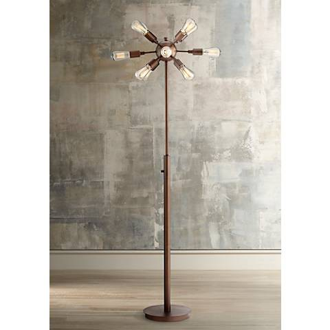 Possini Euro Hemingson 12-Light Bronze Floor Lamp