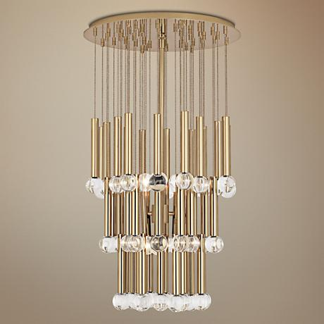 "Jonathan Adler Twinkle 18"" Wide Polished Brass Chandelier"