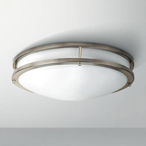 "Effie 14""W ENERGY STAR® LED Round Nickel Ceiling Light"