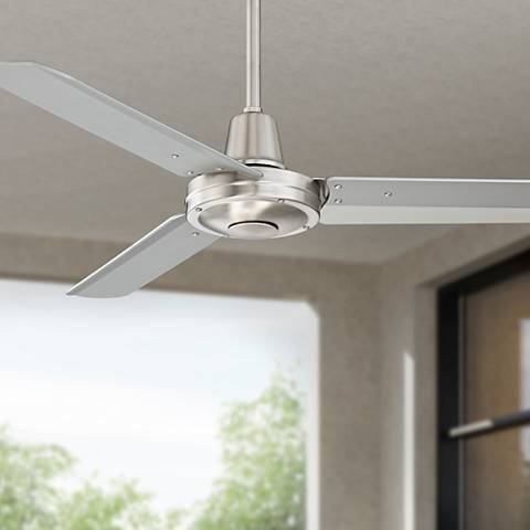 "44"" Plaza™ Brushed Nickel Damp Rated Ceiling Fan"