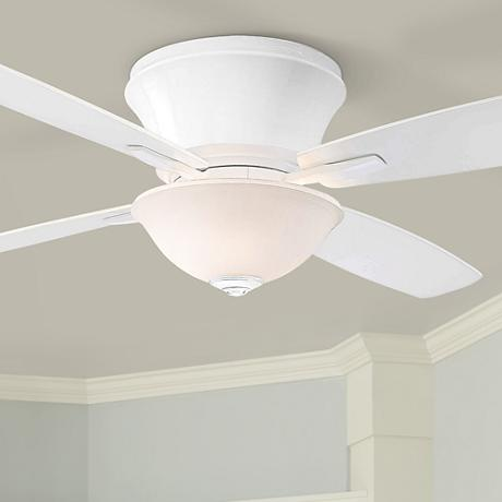 "52"" Minka Aire Mojo II Frosted Glass - White Ceiling Fan"
