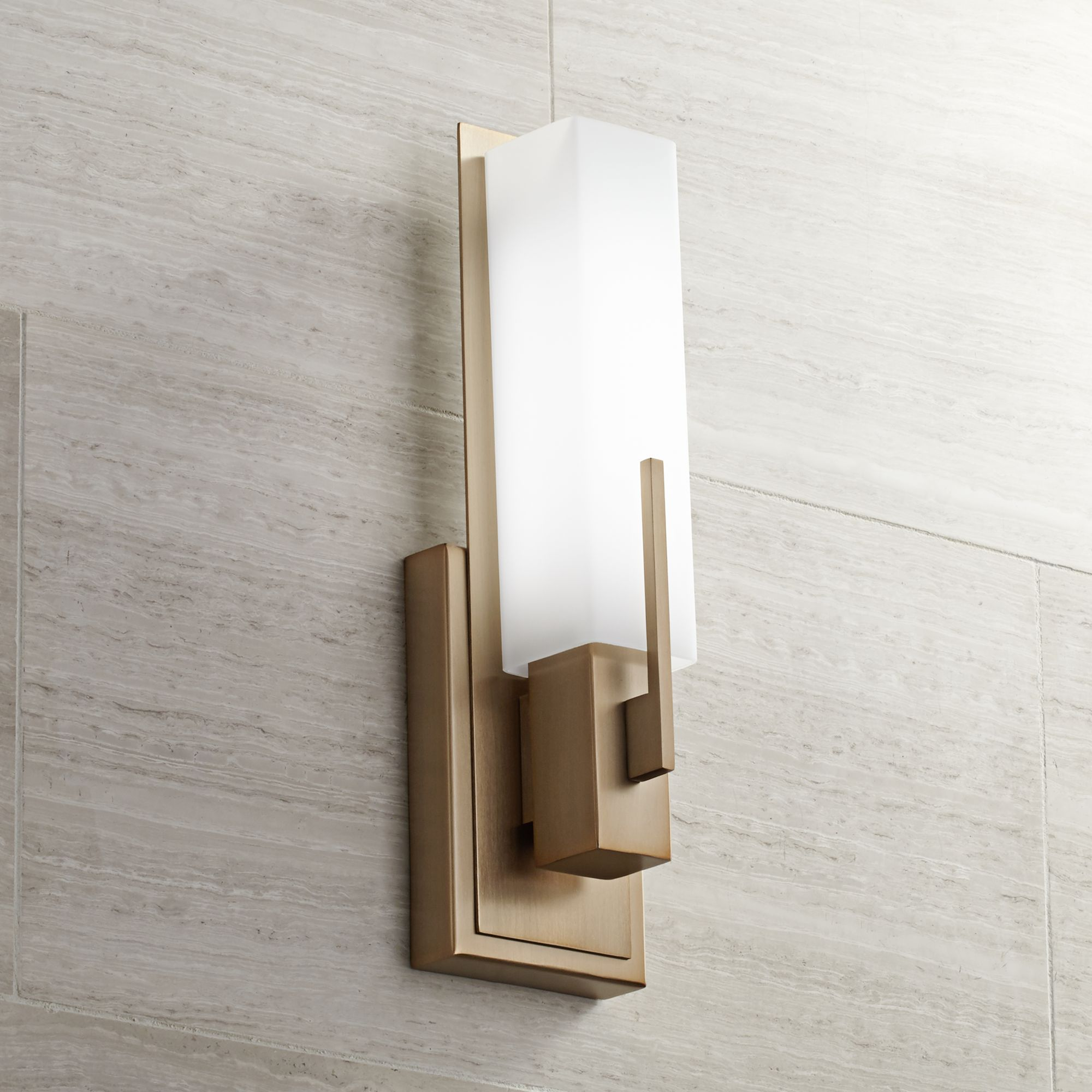 Possini Euro Midtown 15 H Burnished Brass LED Wall Sconce : possini wall sconce - www.canuckmediamonitor.org