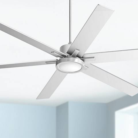 "70"" Nucleus® Casa Vieja Brush Nickel LED Ceiling Fan"
