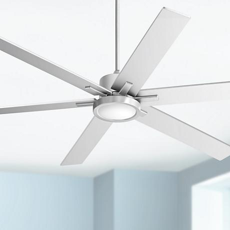 "70"" Nucleus® Possini Brush Nickel LED Ceiling Fan"