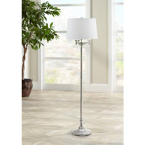 House of Troy Lancaster 6-Way Satin Nickel Floor Lamp