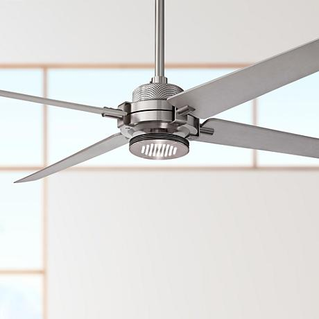 "60"" Minka Aire Spectre Silver - Nickel LED Ceiling Fan"