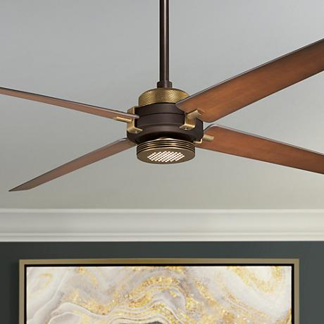 "60"" Minka Aire Spectre Bronze - Brass LED Ceiling Fan"