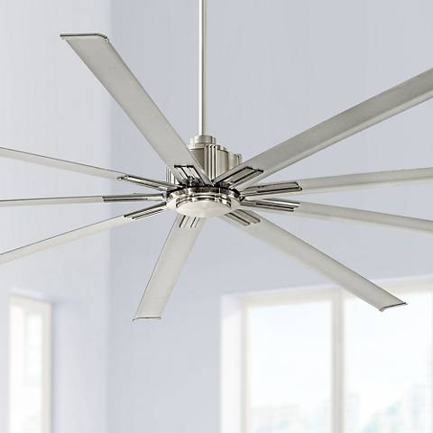 "80"" Minka Aire Xtreme Brushed Nickel Ceiling Fan"