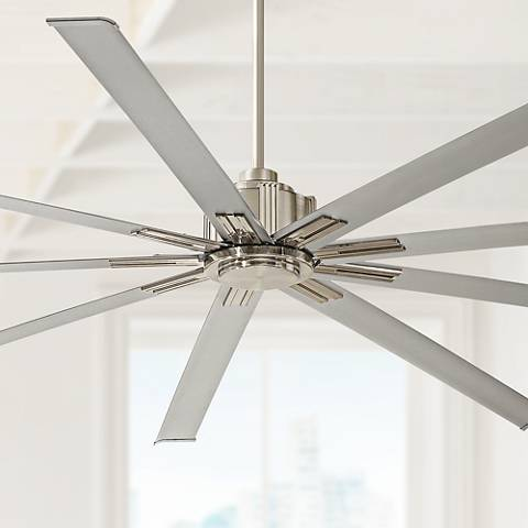 "88"" Minka Aire Xtreme Brushed Nickel Ceiling Fan"