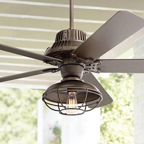 "60"" Industrial Forge Franklin Park Outdoor Ceiling Fan"
