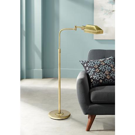 House of Troy Adjustable Aged Brass Pharmacy Floor Lamp