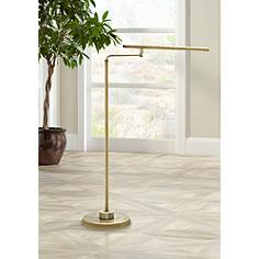 House of Troy Slim Line LED Antique Brass Task Floor Lamp
