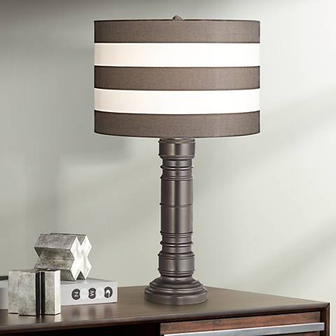 York Harbor Spun Metal Table Lamp by Kathy Ireland