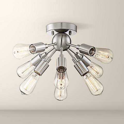 "Hemingson 20 3/4""W 8-Light Satin Nickel Ceiling Light"
