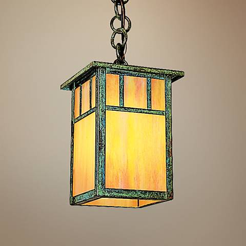 "Huntington 5"" Wide Verdigris Patina Mini Pendant"