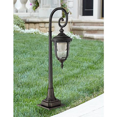 "Bellagio Bronze 34 1/2"" High Scroll LED Path Light"