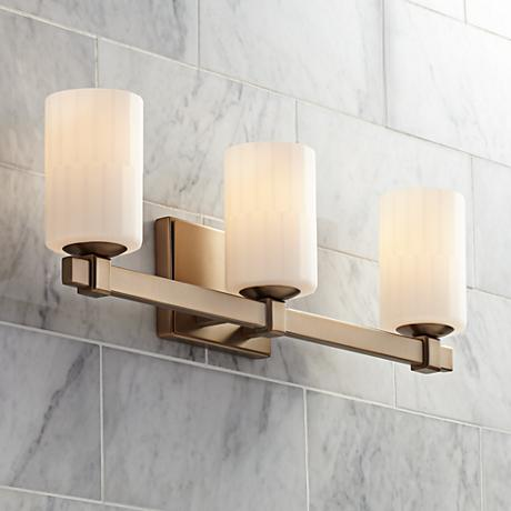 "Bellefleur 23"" Wide 3-Light French Gold Bath Light"