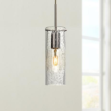 "Besa Juni 10 3 1/2"" Wide Clear Glass Bronze Mini Pendant"