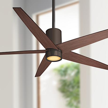 "56"" Minka Aire Symbio Maple - Bronze LED Ceiling Fan"