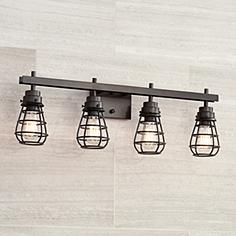 Bathroom Light Fixtures Industrial bathroom light fixtures & vanity lights | lamps plus
