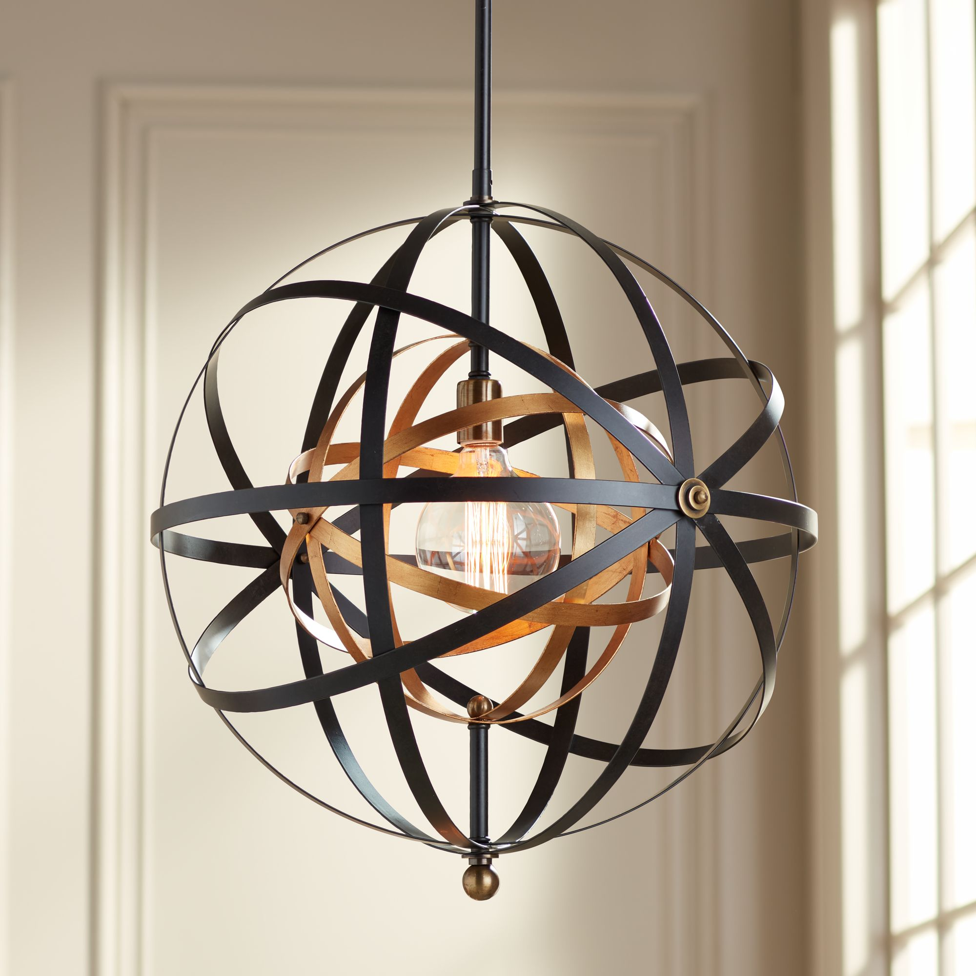 Uttermost Rondure 23  Wide Bronze and Brass Pendant : uttermost pendant lights - azcodes.com