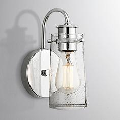 kichler braelyn chrome 9 high seedy glass wall sconce