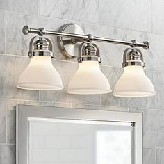 Bathroom Lighting Fixtures Brushed Nickel bathroom light fixtures & vanity lights | lamps plus