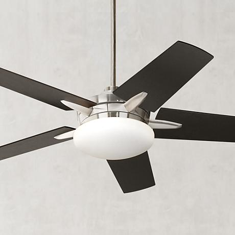 "52"" Casa Endeavor® Brushed Nickel Espresso Ceiling Fan"