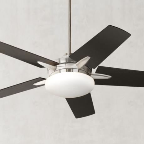 "52"" Casa Endeavor Brushed Nickel Espresso Ceiling Fan"