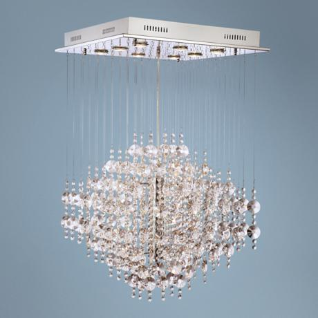 Crystal Cloud Suspension Halogen Chandelier