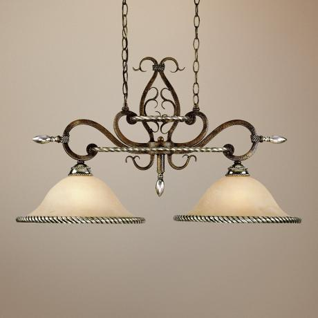 "Wentworth Bronze Crackle 33"" Wide Pendant Chandelier"
