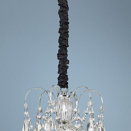 "Black Silk 46 1/2"" Long  Chandelier Chain Cord Cover"