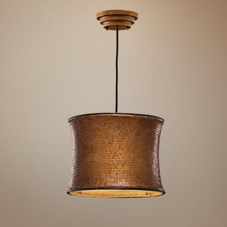 Marcel Collection Copper Hanging Shade Pendant