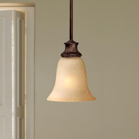 Hill House Collection Burnished Bronze Mini Pendant Light
