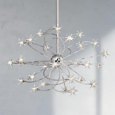 "Possini Euro Galaxy Chrome 26"" Wide Chandelier"