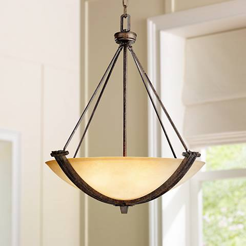 Franklin Iron Works™ Crossings Three Light Pendant