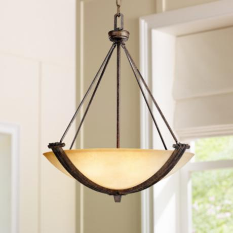 Franklin Iron Works® Crossings Three Light Pendant