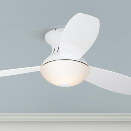 "52"" Encore™ Possini Euro White Hugger Ceiling Fan"