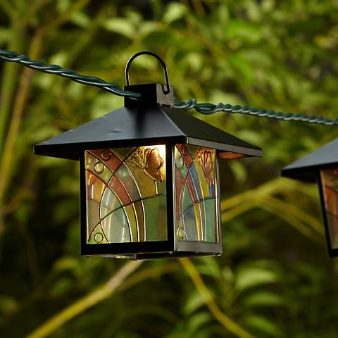 Mission Tiffany Style Lantern String Party Lights 92567