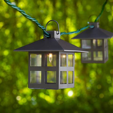 Mission Style Lantern String Party Lights