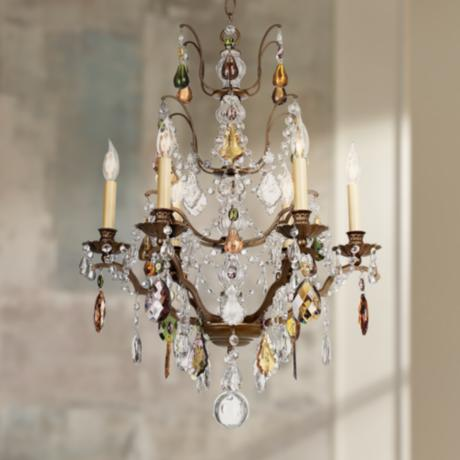 "Schonbek Gallia Jewel Tone 22"" Wide Chandelier"