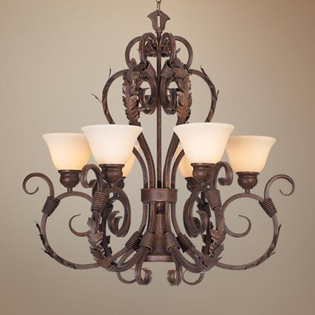 Vicosa Collection Terra Cotta Bronze Finish Chandelier
