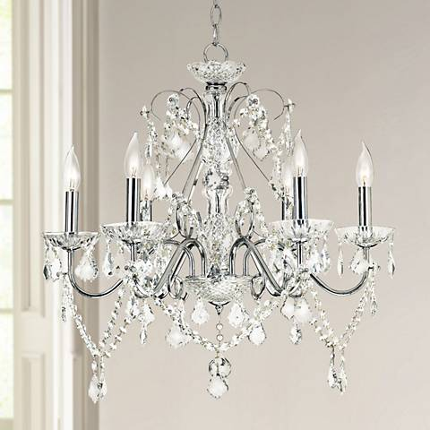 "Vienna Full Spectrum™ 23 1/2""W Chrome and Crystal Chandelier"