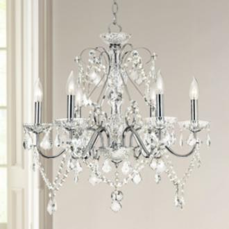 Vienna Full Spectrum Chrome and Crystal Chandelier | LampsPlus.com :  chandeliers chrome pewter traditional